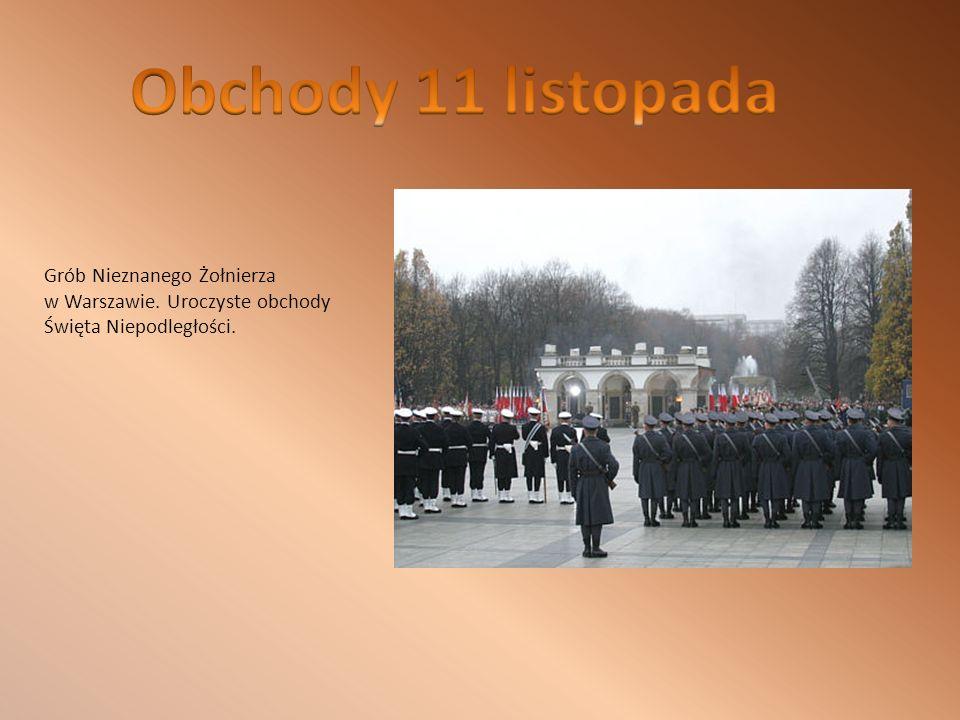 Obchody 11 listopada Grób Nieznanego Żołnierza w Warszawie.
