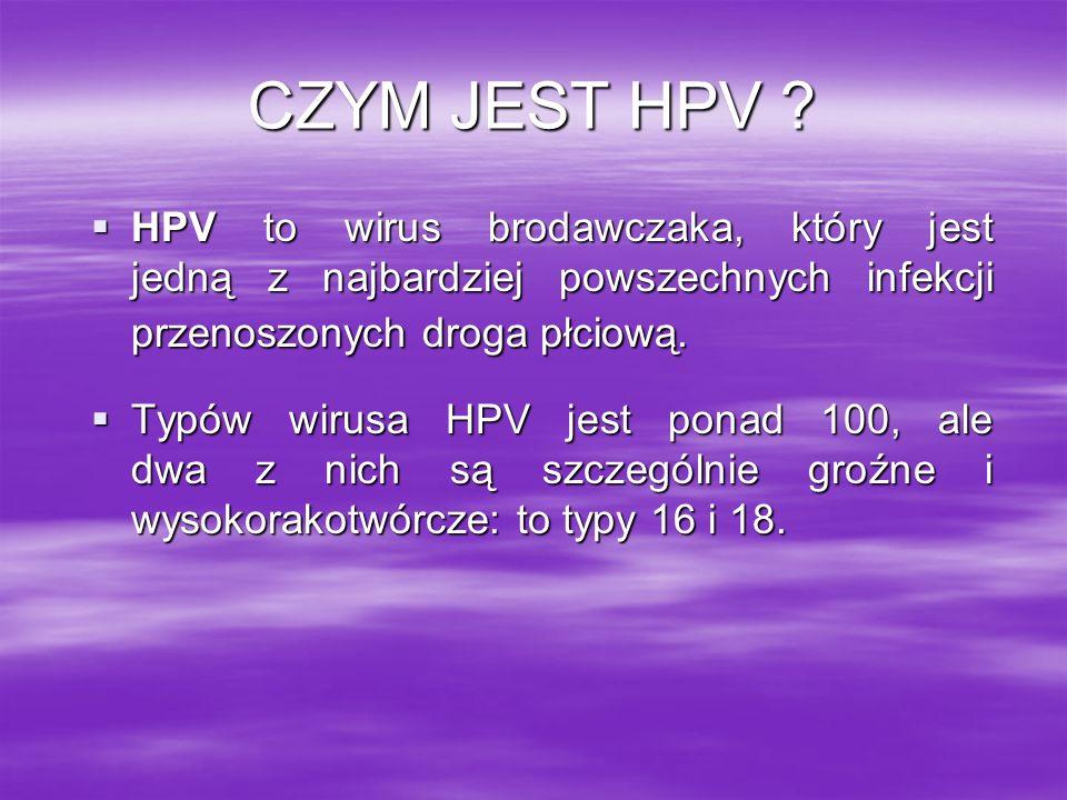 CZYM JEST HPV HPV to wirus brodawczaka, który jest jedną z najbardziej powszechnych infekcji przenoszonych droga płciową.