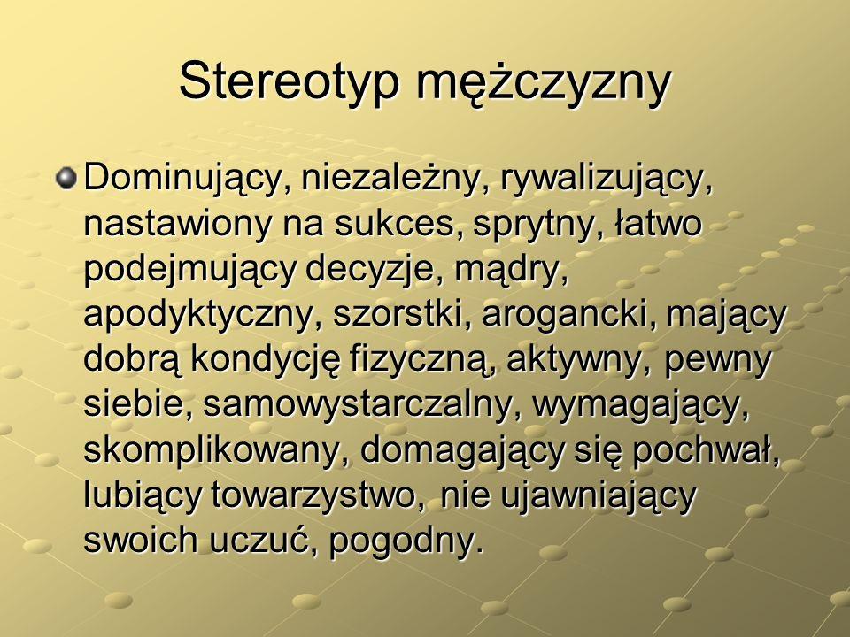 Stereotyp mężczyzny
