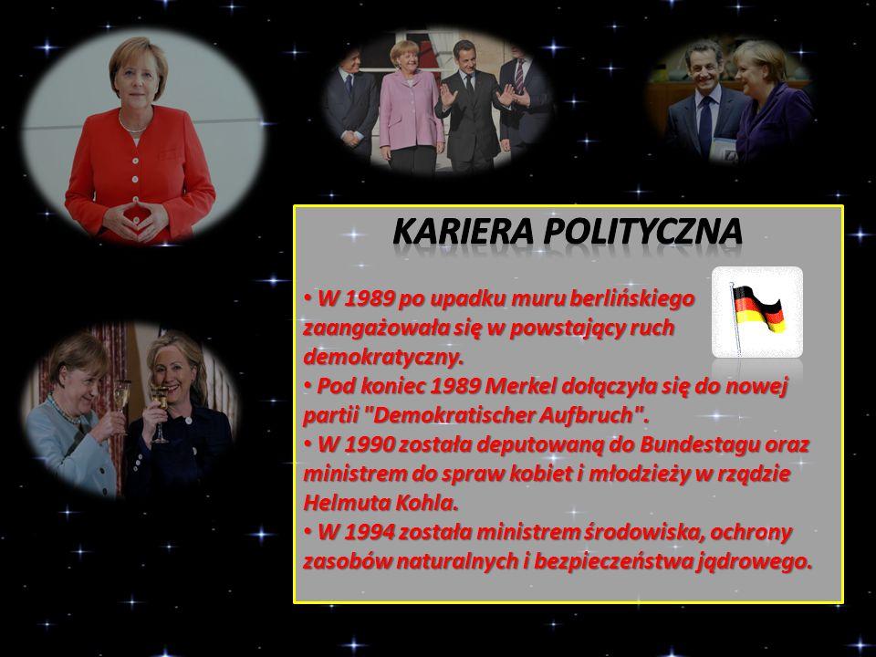 Kariera polityczna W 1989 po upadku muru berlińskiego zaangażowała się w powstający ruch demokratyczny.