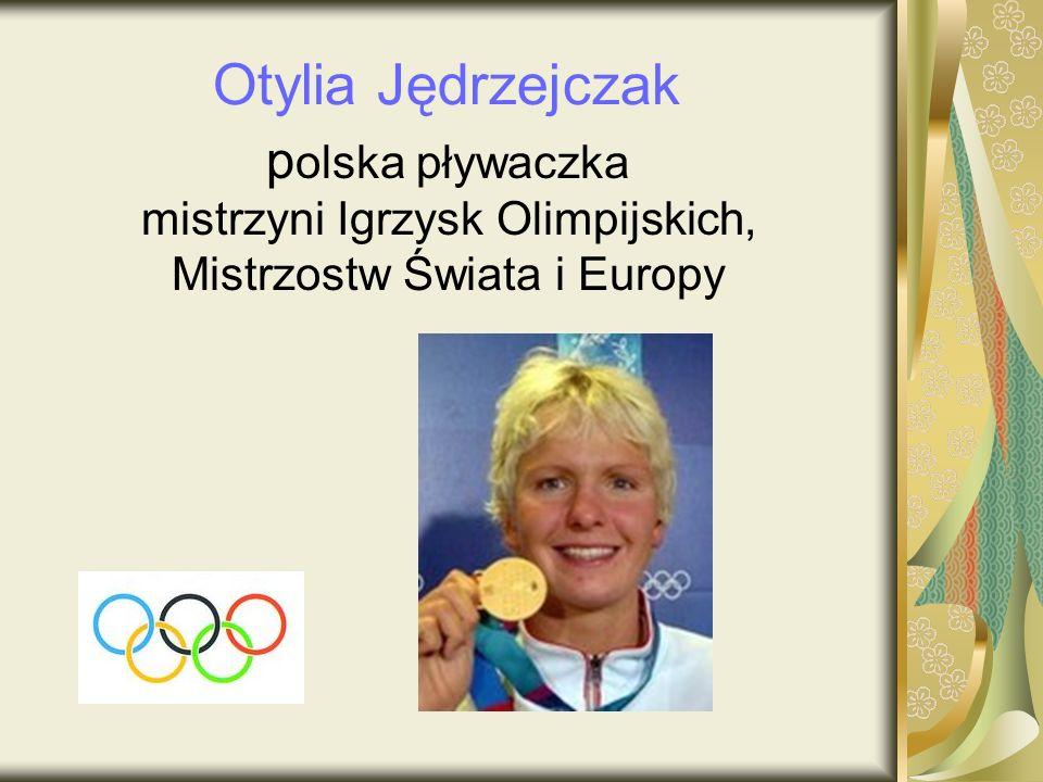 Otylia Jędrzejczak polska pływaczka mistrzyni Igrzysk Olimpijskich,