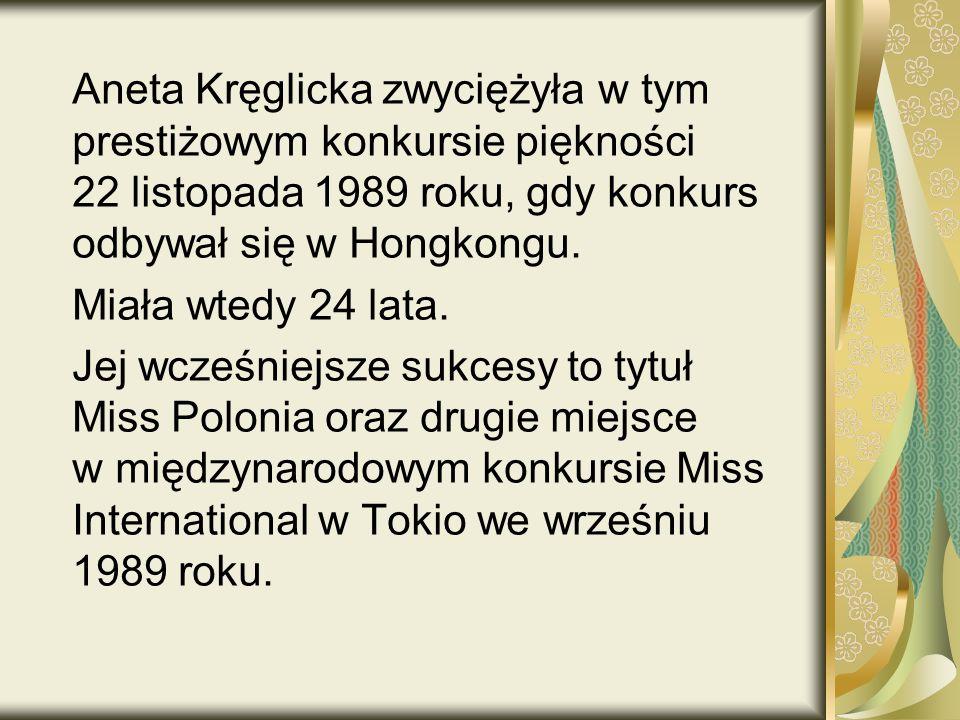 Aneta Kręglicka zwyciężyła w tym prestiżowym konkursie piękności