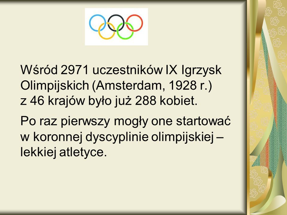 Wśród 2971 uczestników IX Igrzysk Olimpijskich (Amsterdam, 1928 r.)