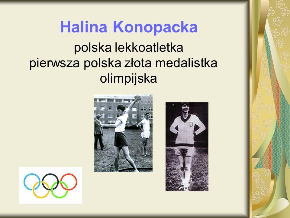 pierwsza polska złota medalistka olimpijska