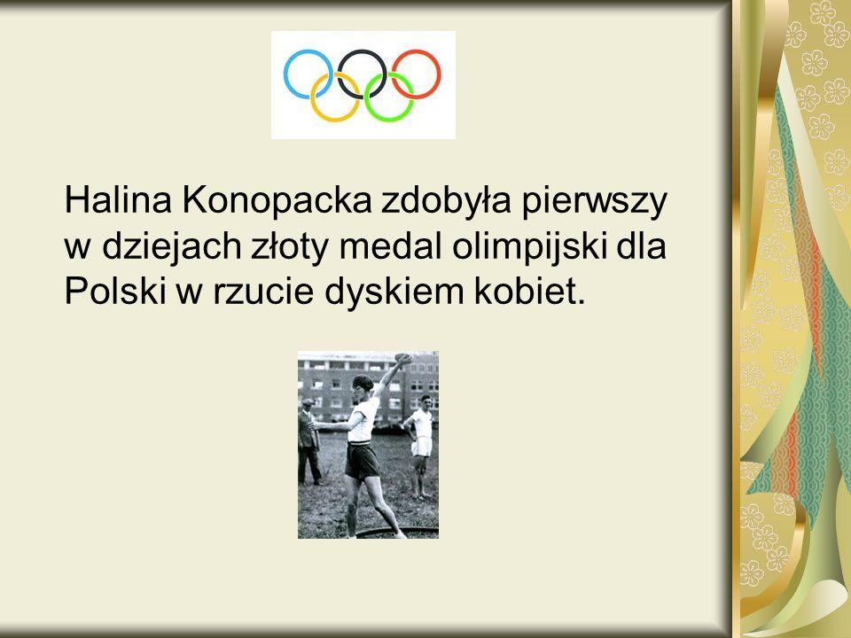 Halina Konopacka zdobyła pierwszy w dziejach złoty medal olimpijski dla Polski w rzucie dyskiem kobiet.