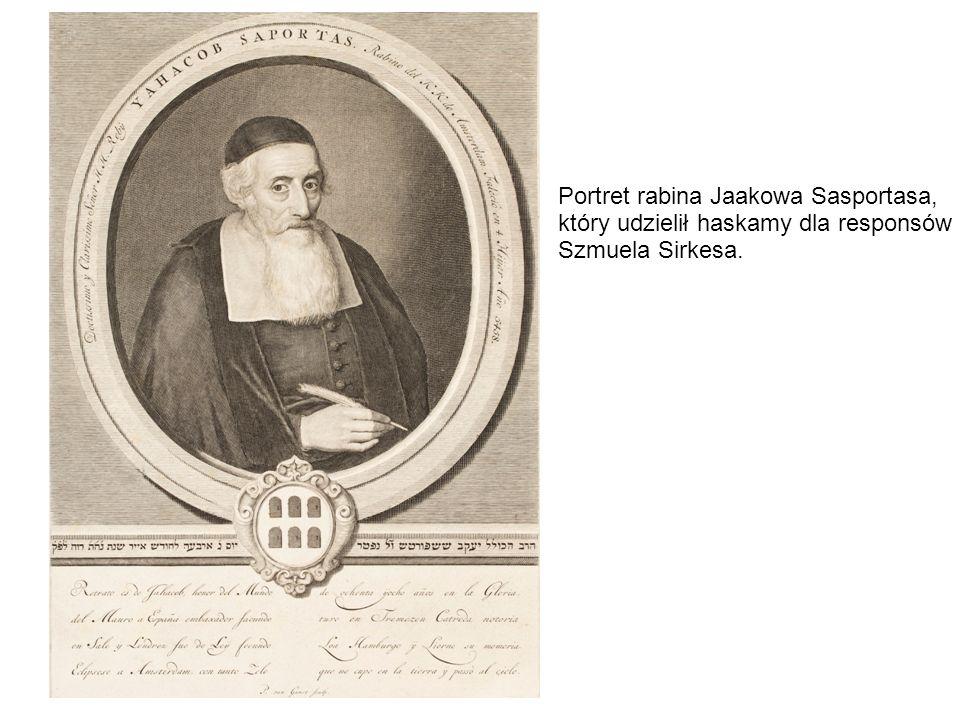 Portret rabina Jaakowa Sasportasa,