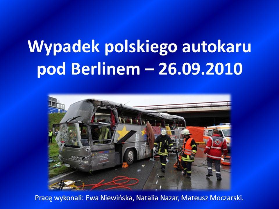 Wypadek polskiego autokaru pod Berlinem – 26.09.2010
