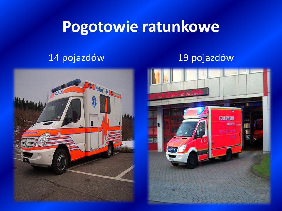 Pogotowie ratunkowe 14 pojazdów 19 pojazdów