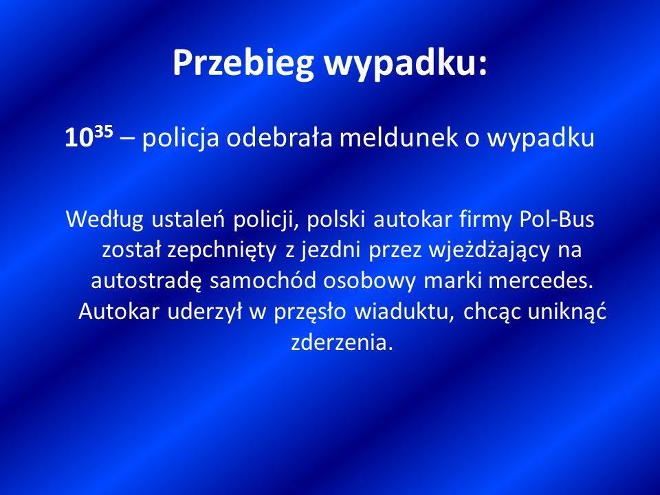 1035 – policja odebrała meldunek o wypadku
