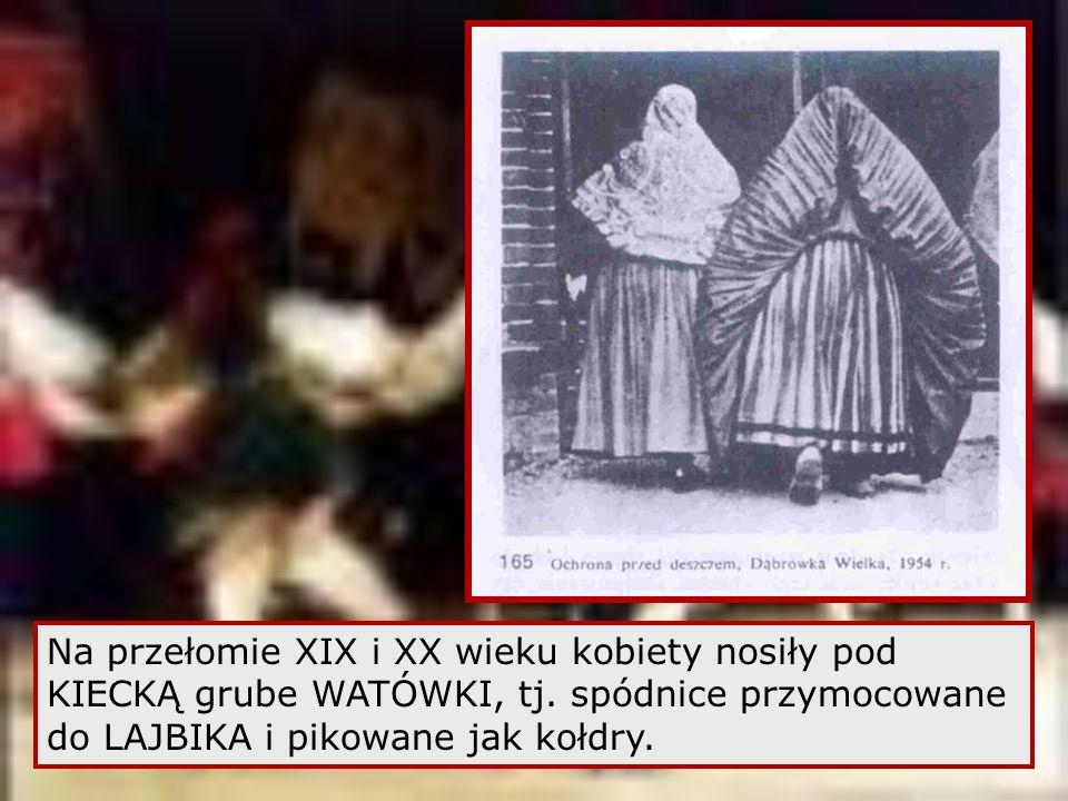 Na przełomie XIX i XX wieku kobiety nosiły pod KIECKĄ grube WATÓWKI, tj.