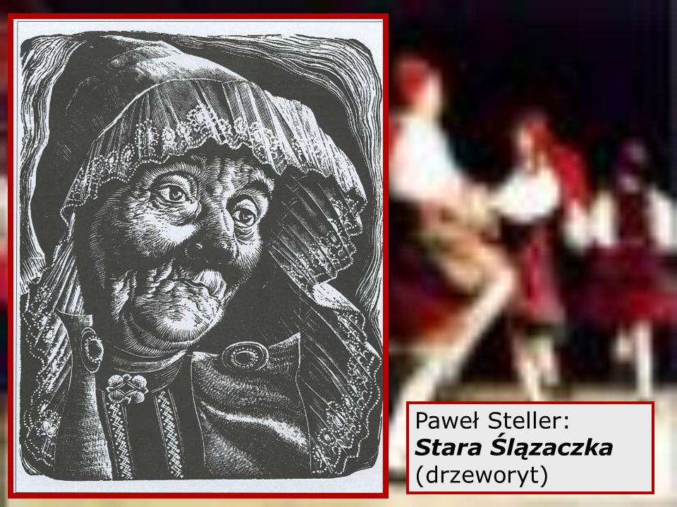 Paweł Steller: Stara Ślązaczka (drzeworyt)