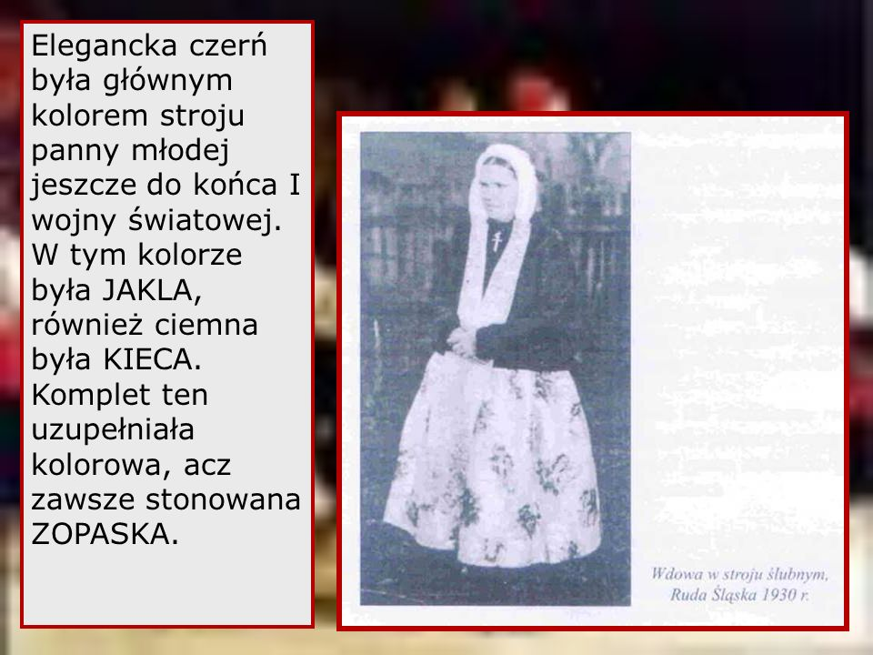 Elegancka czerń była głównym kolorem stroju panny młodej jeszcze do końca I wojny światowej.