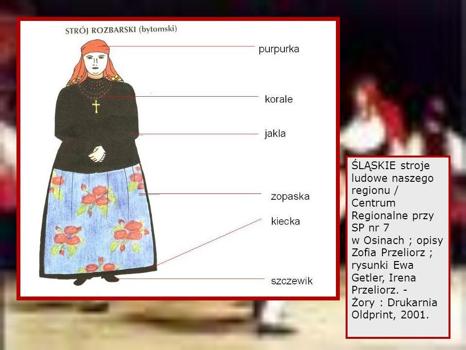 ŚLĄSKIE stroje ludowe naszego regionu / Centrum Regionalne przy SP nr 7 w Osinach ; opisy Zofia Przeliorz ; rysunki Ewa Getler, Irena Przeliorz.
