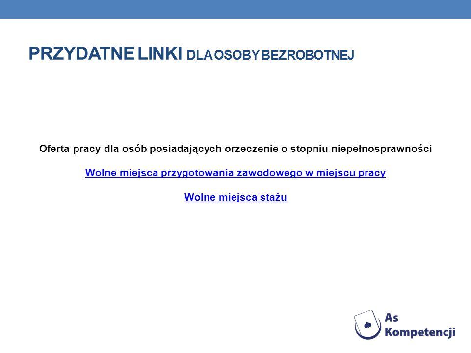 Przydatne linki dla osoby bezrobotnej