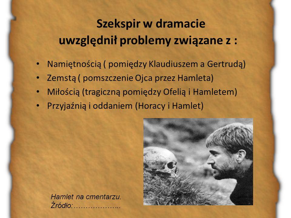 Szekspir w dramacie uwzględnił problemy związane z :