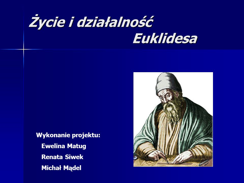 Życie i działalność Euklidesa