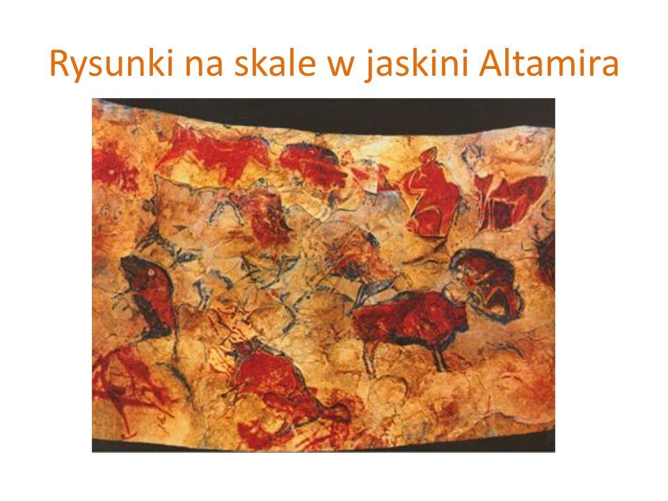 Rysunki na skale w jaskini Altamira