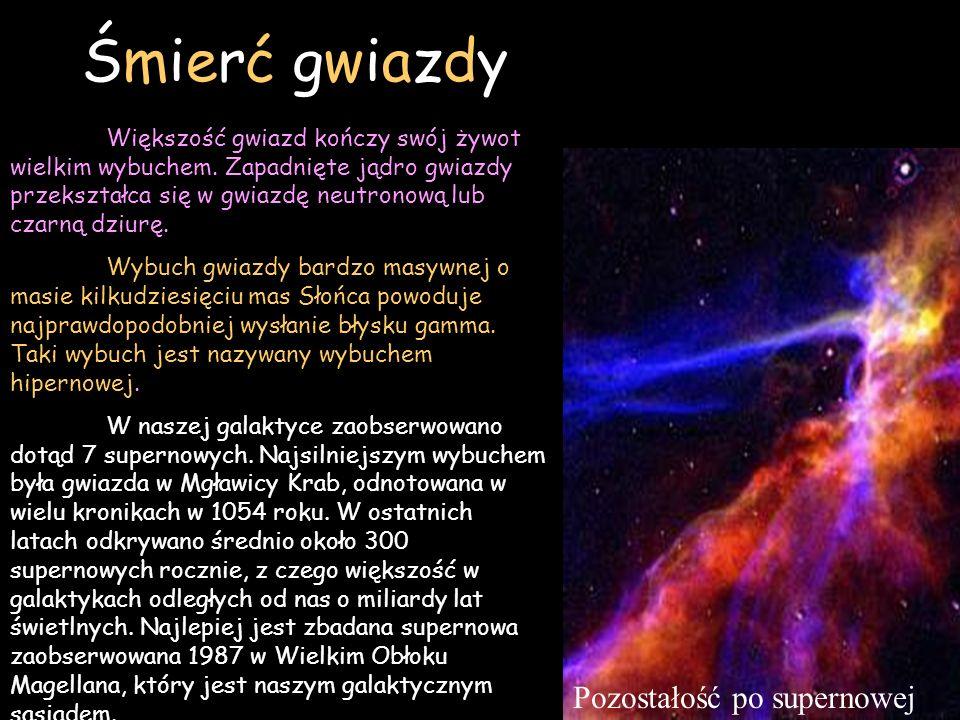 Śmierć gwiazdy Pozostałość po supernowej