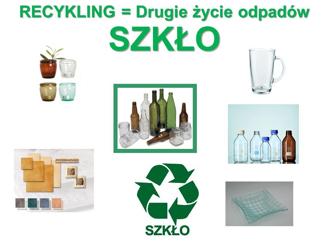 RECYKLING = Drugie życie odpadów SZKŁO