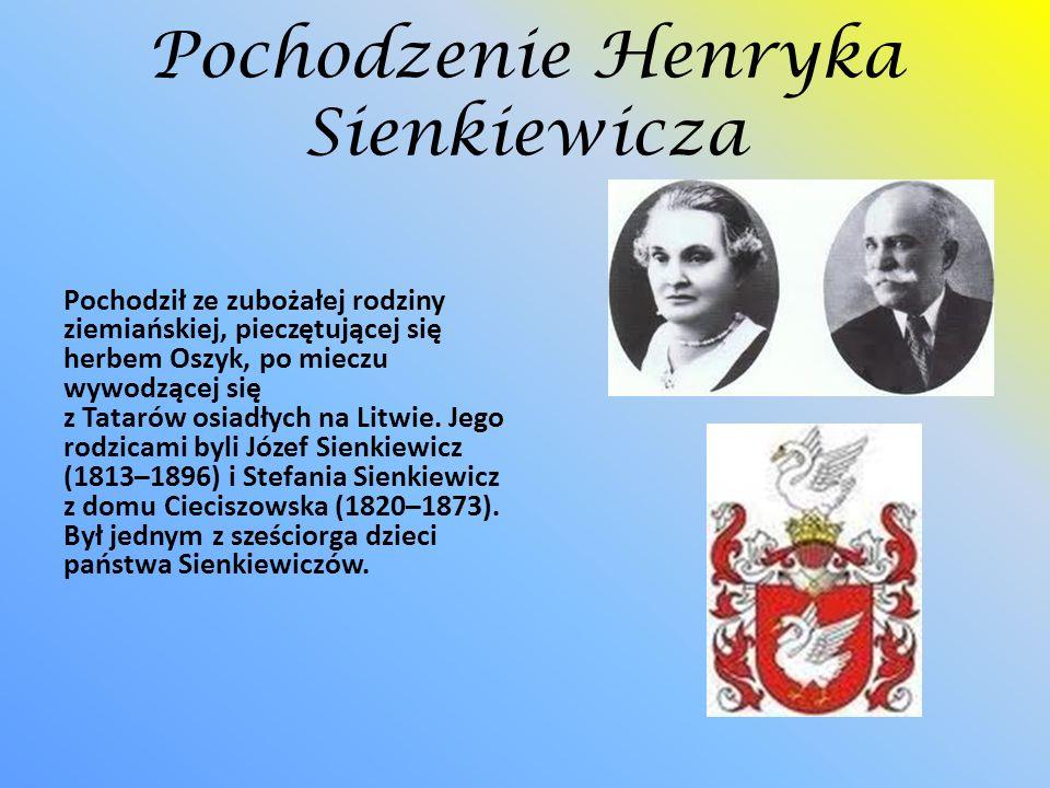 Pochodzenie Henryka Sienkiewicza