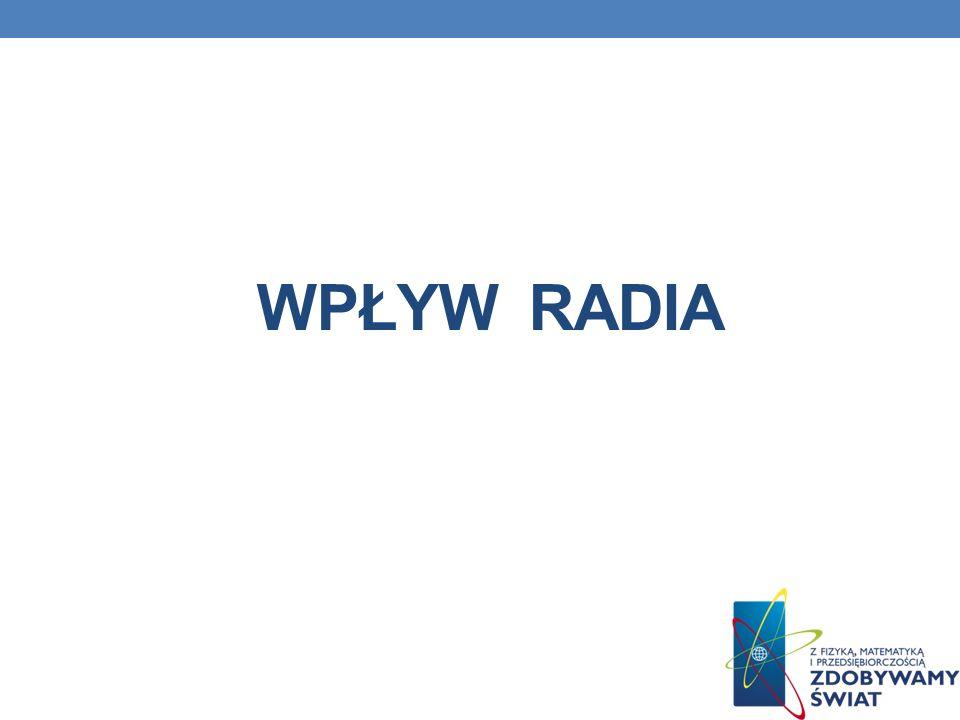 Wpływ radia
