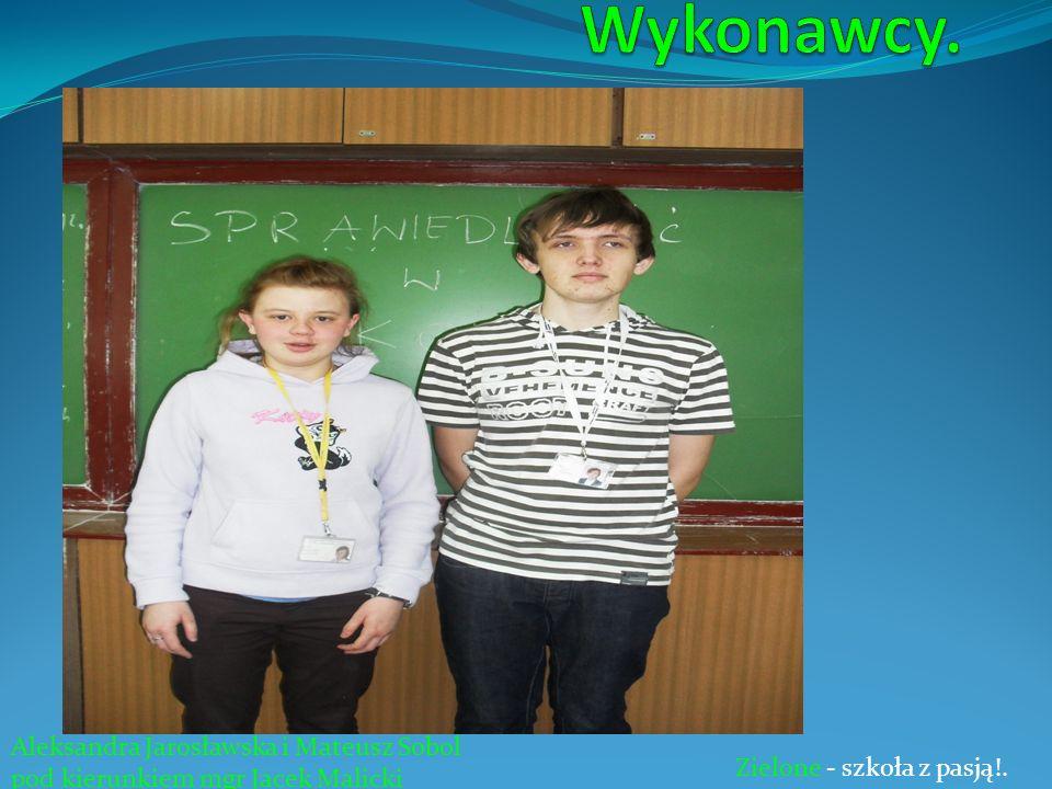 Wykonawcy. Aleksandra Jarosławska i Mateusz Sobol
