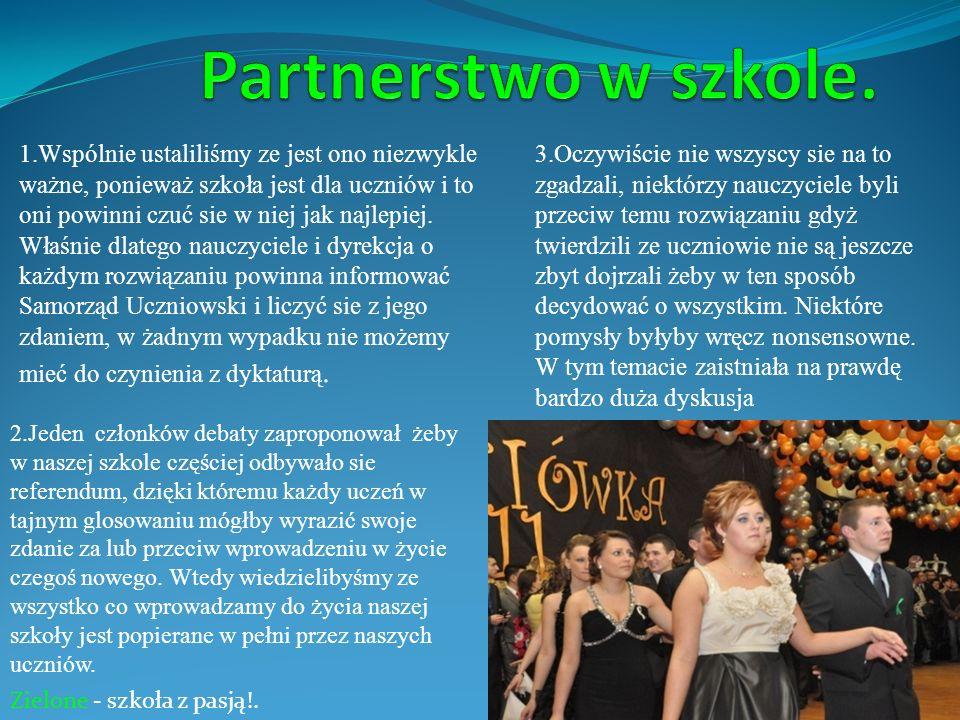 Partnerstwo w szkole.
