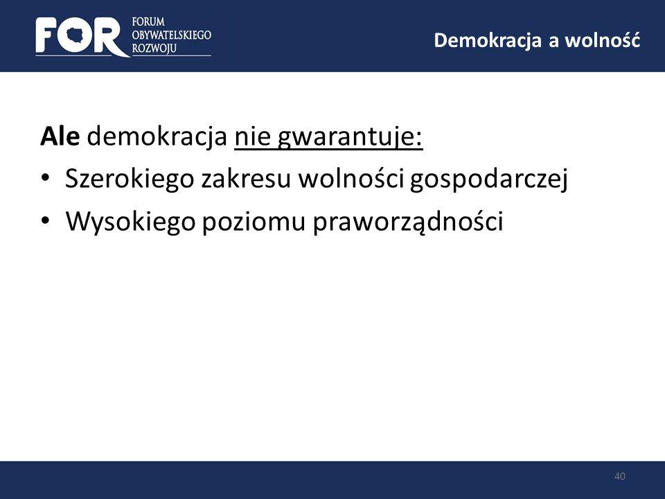 Ale demokracja nie gwarantuje: