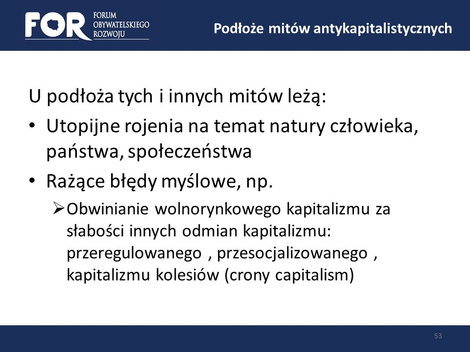 Podłoże mitów antykapitalistycznych