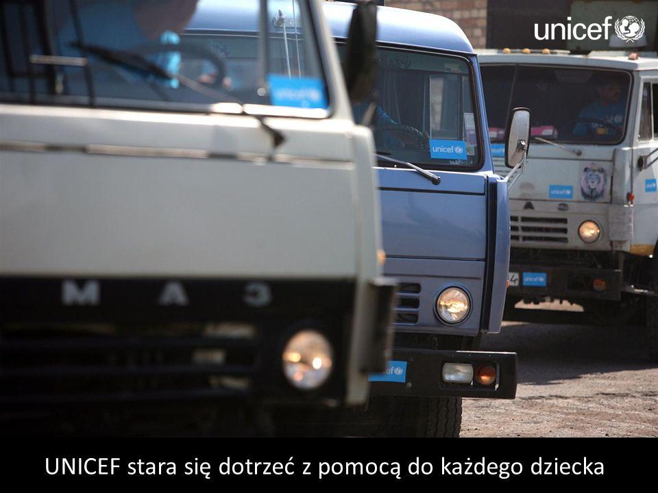 UNICEF stara się dotrzeć z pomocą do każdego dziecka