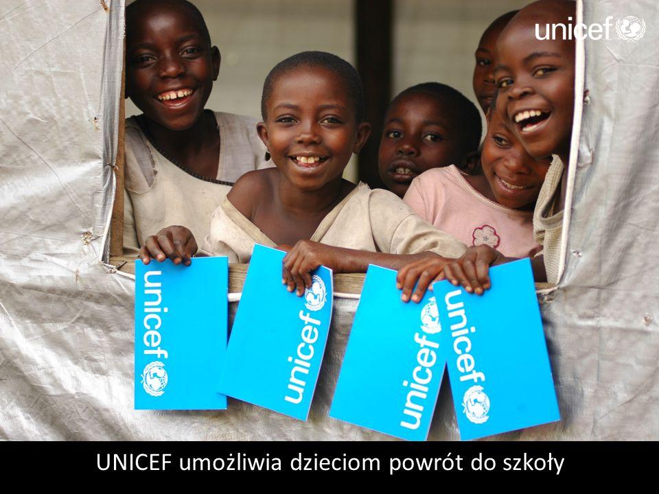 UNICEF umożliwia dzieciom powrót do szkoły