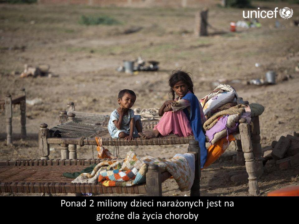 Ponad 2 miliony dzieci narażonych jest na groźne dla życia choroby