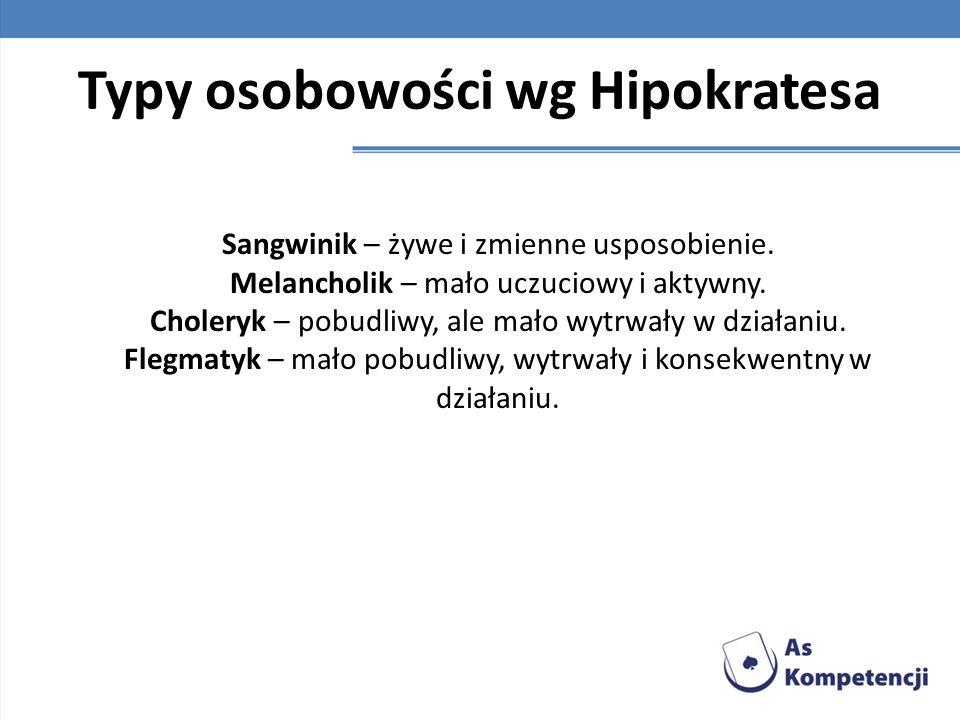 Typy osobowości wg Hipokratesa