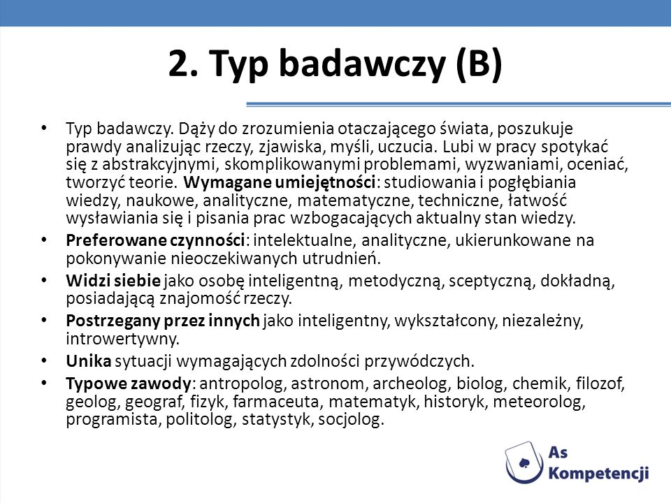 2. Typ badawczy (B)