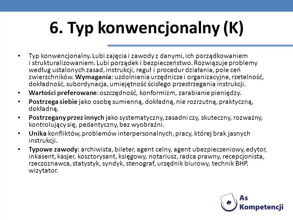 6. Typ konwencjonalny (K)