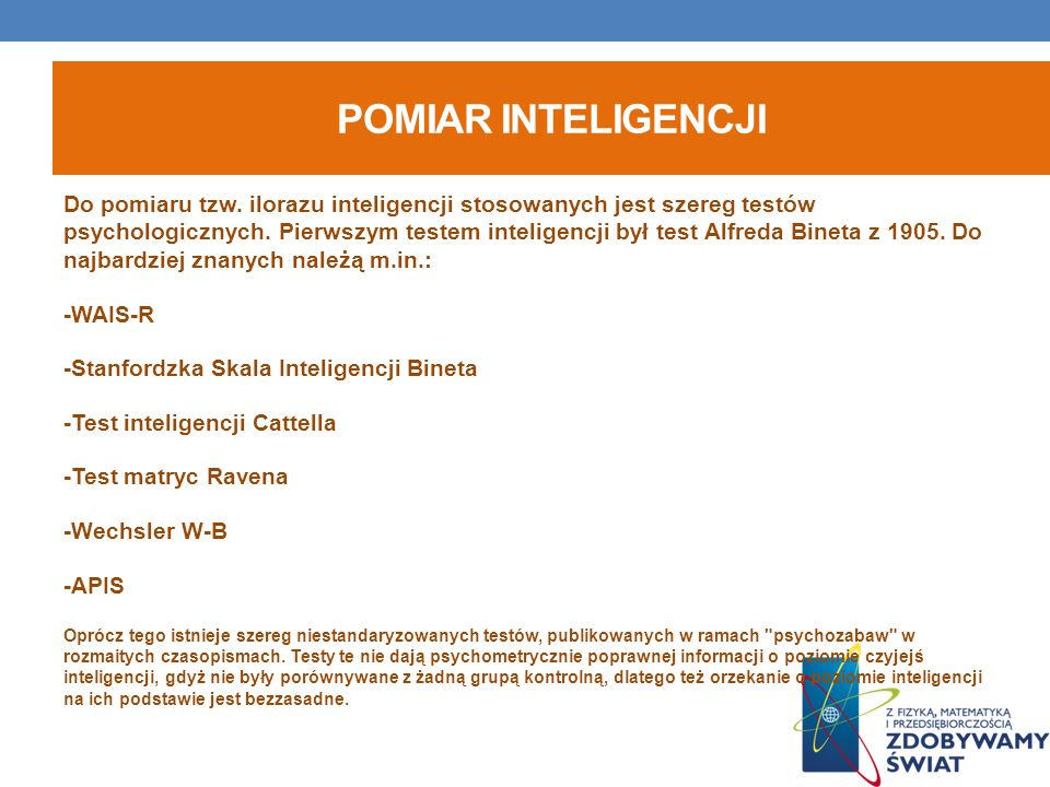 Pomiar inteligencji