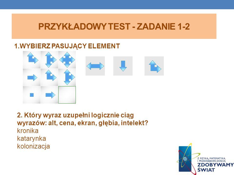 PRZYKŁADOWY TEST - ZADANIE 1-2