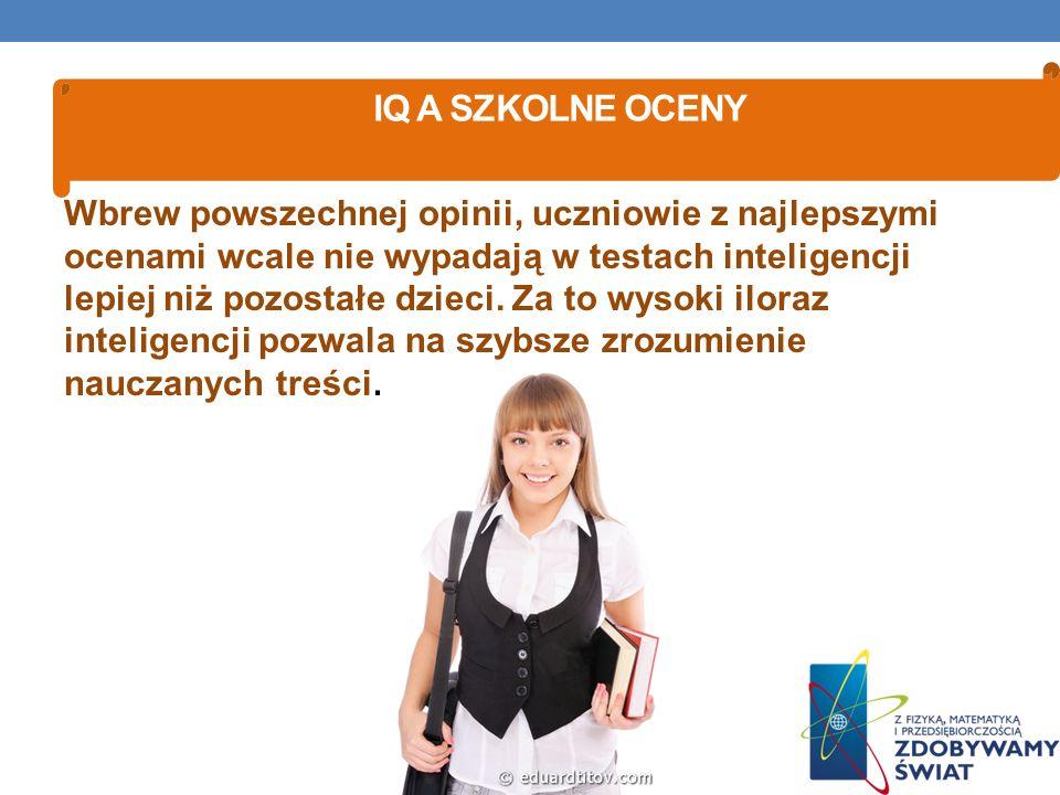 IQ a szkolne oceny