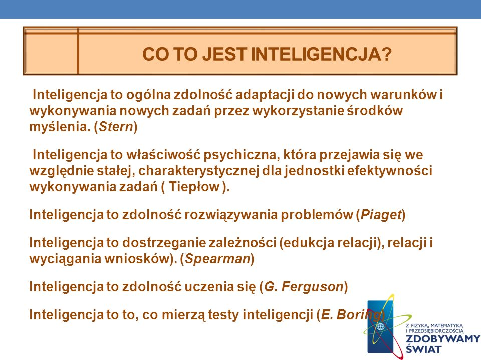 Co to jest inteligencja