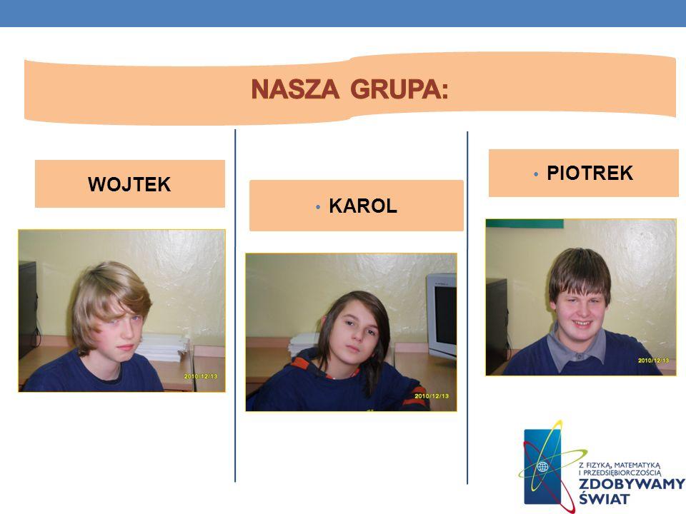 Nasza grupa badawcza: Nasza grupa: PIOTREK WOJTEK KAROL