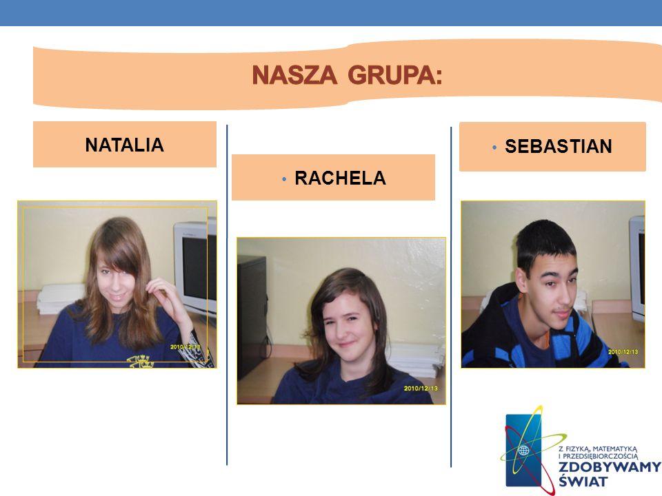 Nasza grupa: NATALIA SEBASTIAN RACHELA