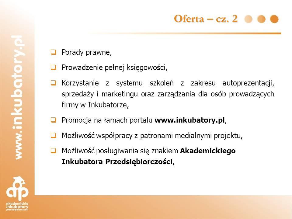 Oferta – cz. 2 Porady prawne, Prowadzenie pełnej księgowości,