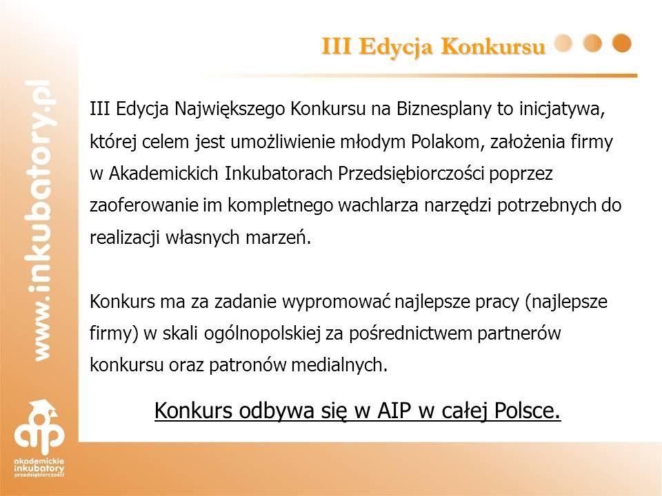 Konkurs odbywa się w AIP w całej Polsce.