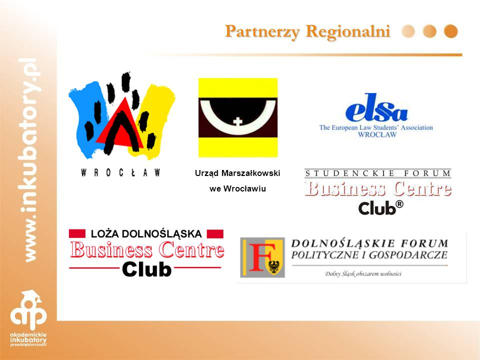 Partnerzy Regionalni Urząd Marszałkowski we Wrocławiu
