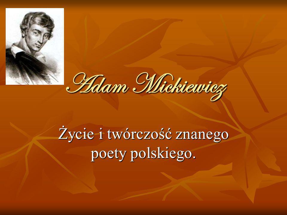 Życie i twórczość znanego poety polskiego.
