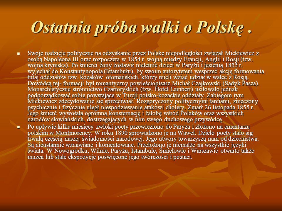 Ostatnia próba walki o Polskę .
