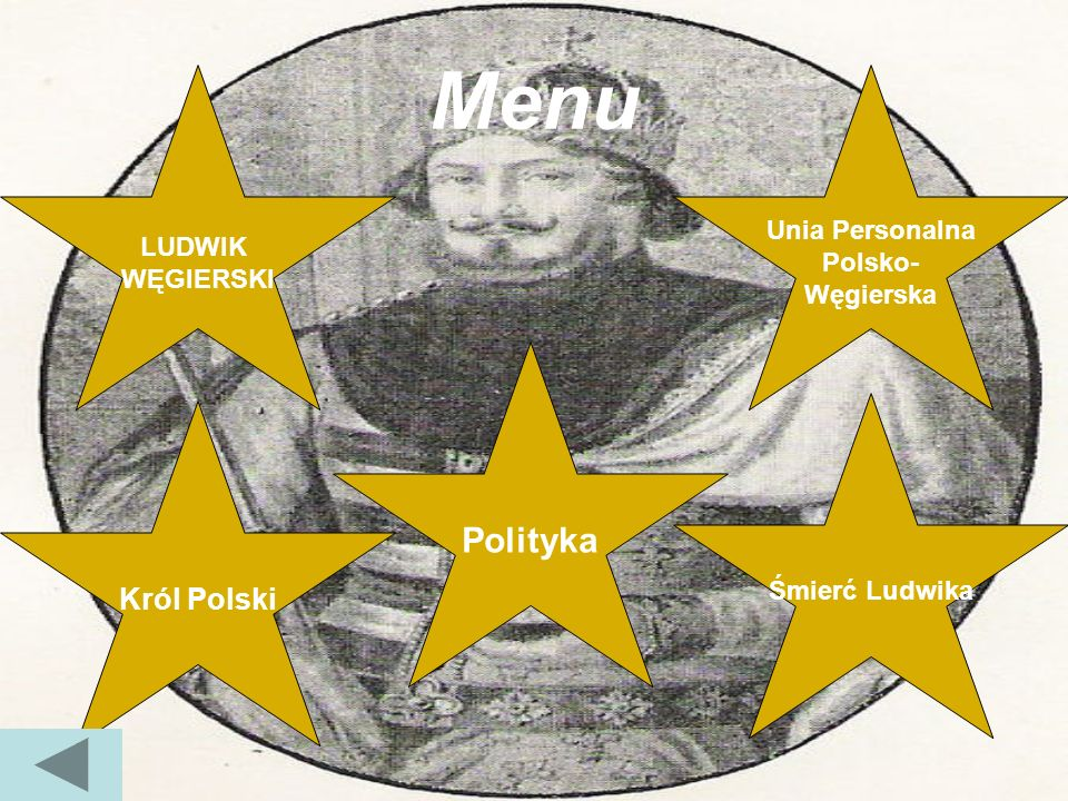 Menu Polityka Król Polski Unia Personalna LUDWIK Polsko- WĘGIERSKI