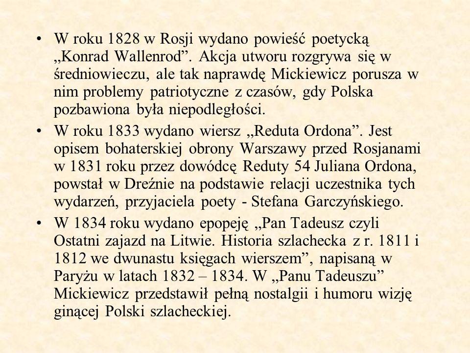 """W roku 1828 w Rosji wydano powieść poetycką """"Konrad Wallenrod"""