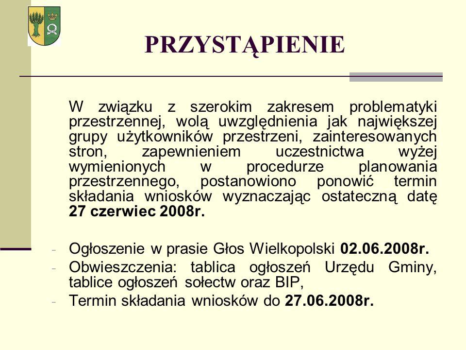 PRZYSTĄPIENIE Ogłoszenie w prasie Głos Wielkopolski 02.06.2008r.