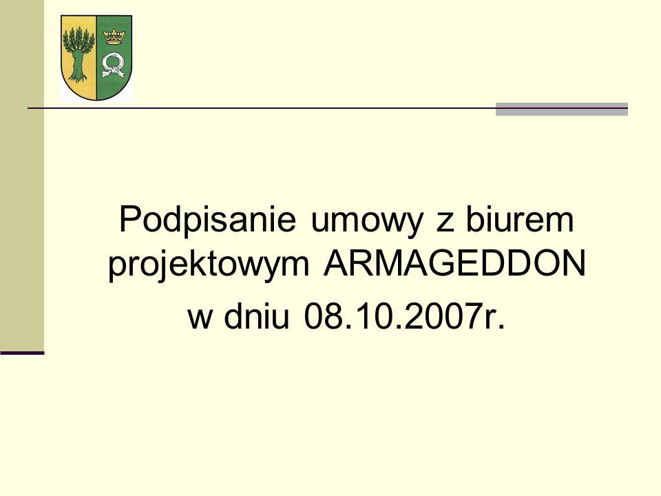 Podpisanie umowy z biurem projektowym ARMAGEDDON